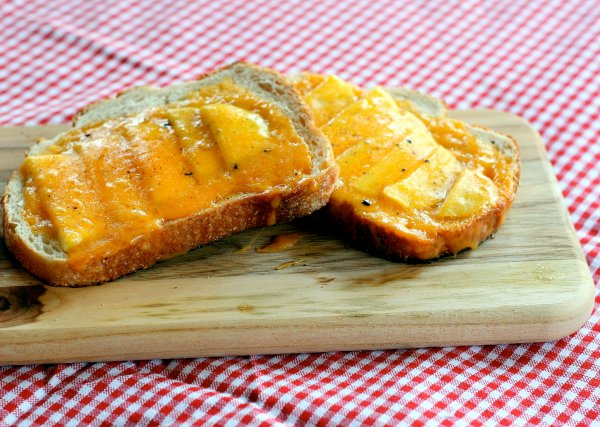 Open Face Apple Cheddar Sandwiches
