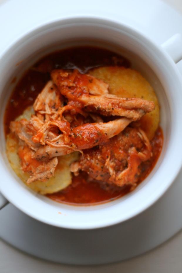 Italian Chicken over Polenta